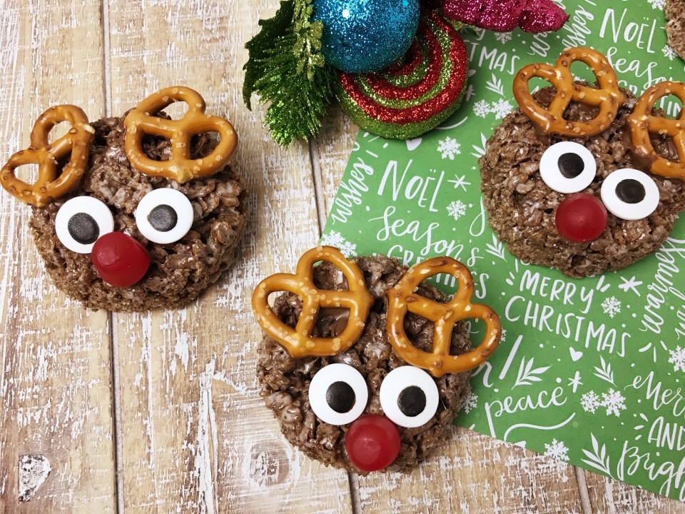 Rudolph Rice Krispie treats set