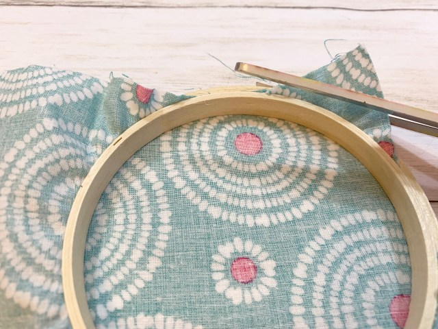 Fabric and Embroidery Hoops steps