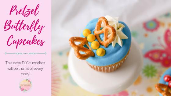 Easy Pretzel Butterfly Cupcakes