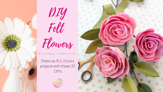 20 Diy Felt Flowers The Ruffled Daisy