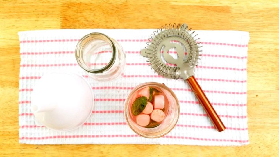 Bubblegum Mint Mojito Strainer