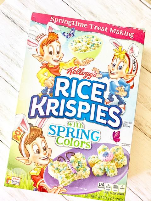 Spring Rice Krispie Pops