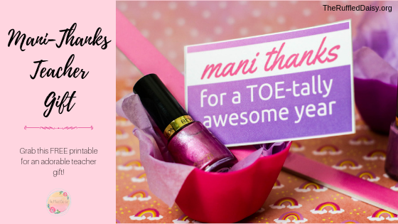 photo relating to Mani Thanks Free Printable referred to as Mani-Owing Instructor Appreciation Reward Printable - The