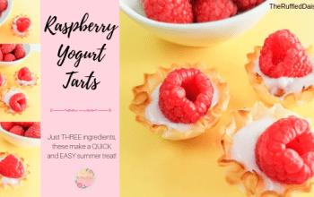 Quick and Easy Raspberry Yogurt Tarts