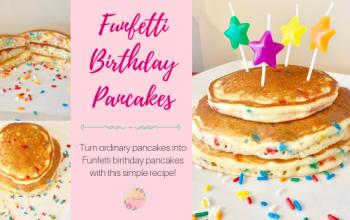 Easy Funfetti Birthday Pancakes