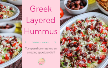 Easy Greek Layered Hummus Appetizer