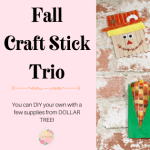 Fall Craft Stick Trio