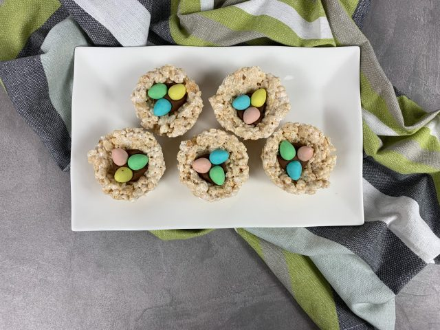 Rice krispie Easter Egg Nest