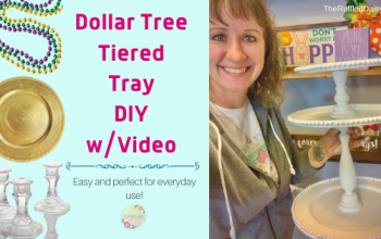Dollar Store Tiered Tray DIY with Video