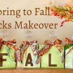 Dollar Store DIY Fall Blocks Makeover