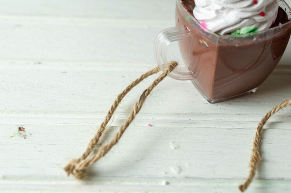 Faux Hot Cocoa Ornament hanger