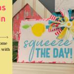 Lemon Napkin Canvas DIY