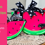 Wooden Watermelon DIY Summer Decor