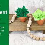 Mini Felt Succulent Trio DIY