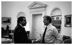 Tony Mendez with President Jimmy Carter.