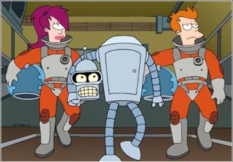 Futurama-Crew-Leela-Fry-and-Bender