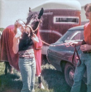 Lisa with horse 1981 (Corrected)