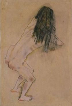 Nude with Back Turned by Oskar Kokoschka