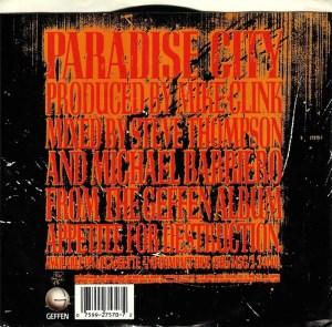 Guns N' Roses -Paradise City (back) | Rumpus Music