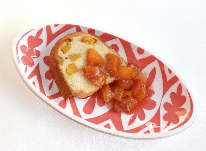 Peach Bourbon Cake with Sweet Tea Peaches