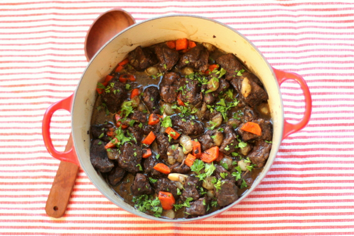 Balsamic Beef Stew with Pearl Onions