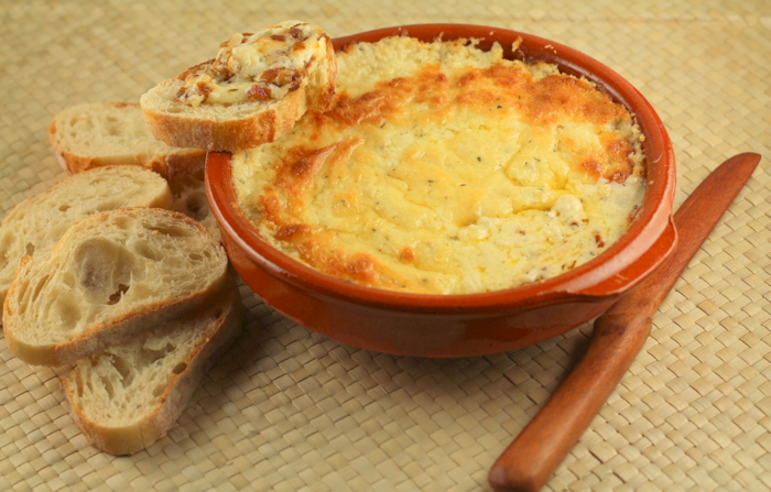 Melty Cheese and Caramelized Onion Fondue Dip