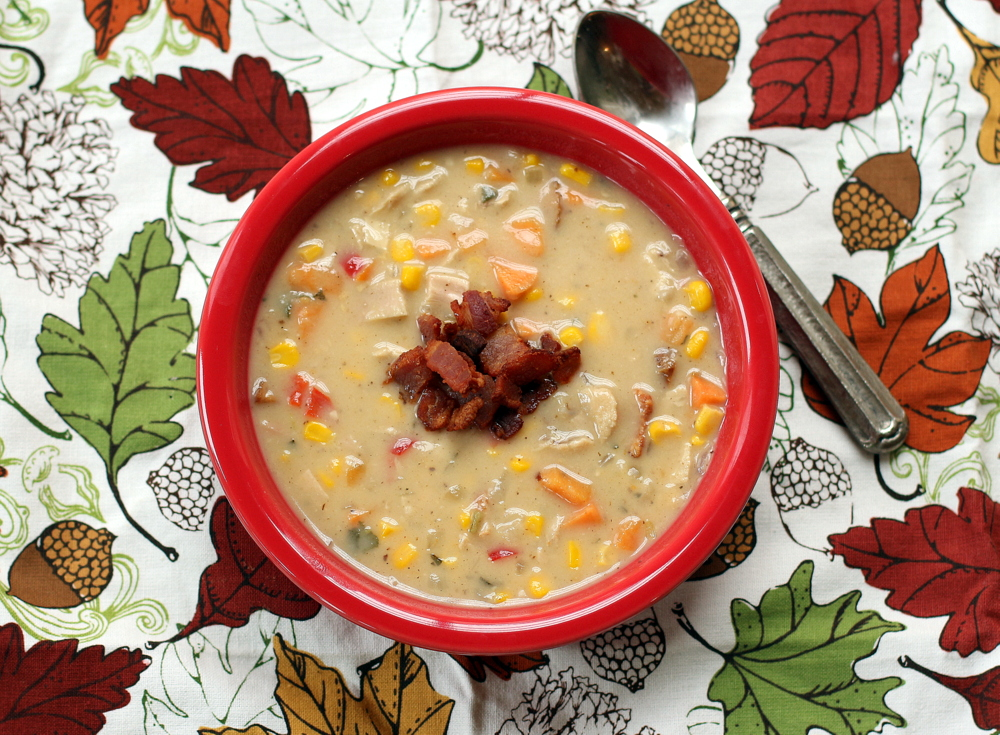 Turkey, Sweet Potato and Corn Chowder