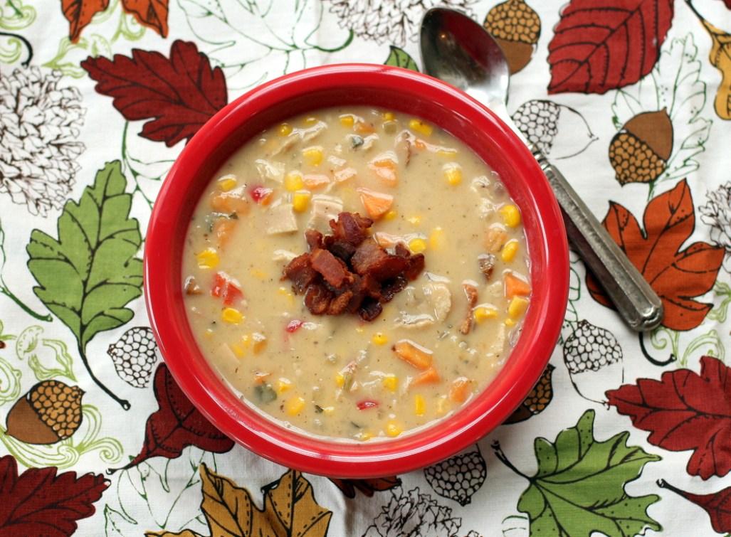 Turkey, Sweet Potato and Corn Chowder