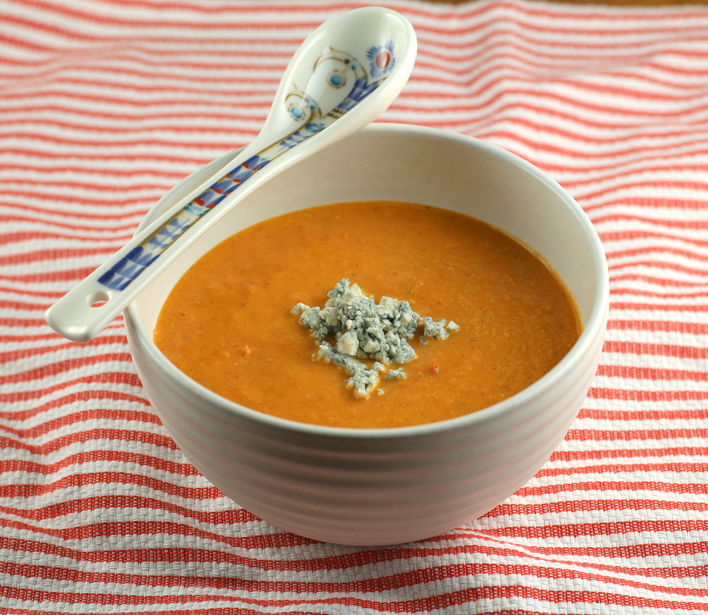 Tomato Blue Cheese Soup