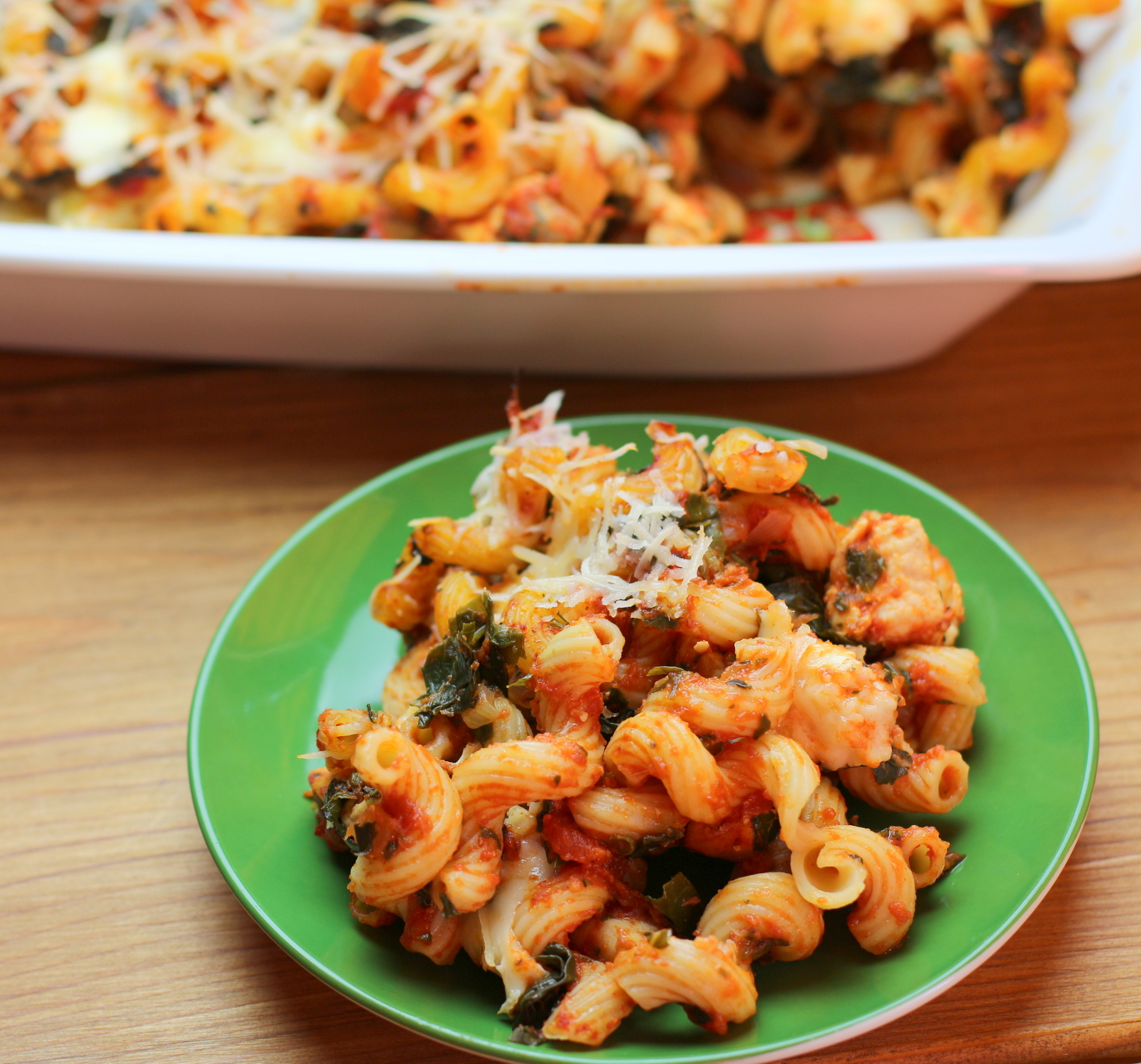 Italian Chicken, Pasta and Tomato Bake
