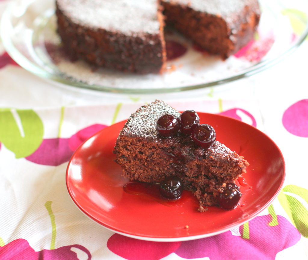 Chocolate Cherry Emergency Cake