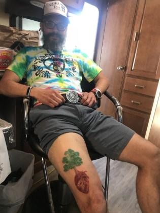 Buckled adn tattooed