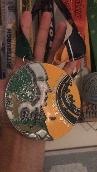 The Two Face medals