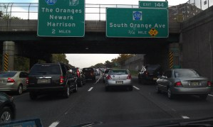 Traffic on Garden State Parkway
