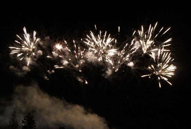 A fireworks show was done before the main act at the 29th Annual Bakersfield Jazz Festival on May 9.