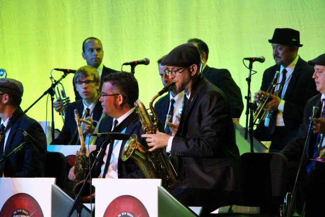 The Western Standard Time Ska Orchestra was the main act for the night on May 9 at the Bakersfield Jazz Festival. They performed after the fireworks, closing the night.