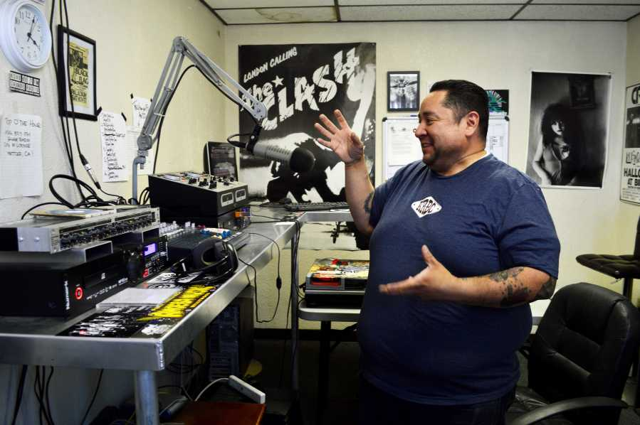 General Manager and Co-Founder of Savage Radio Jake Chavez shared his vision about the radio station KSVG 89.7 on Oct. 7 in the studio in downtown Bakersfield.