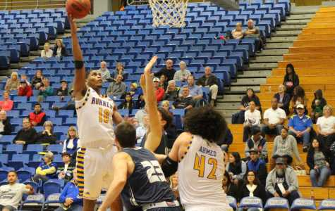 Senior forward Kevin Mays finished with 21 points and 10 rebounds against UTRGV on Thursday.  The Runner Archives
