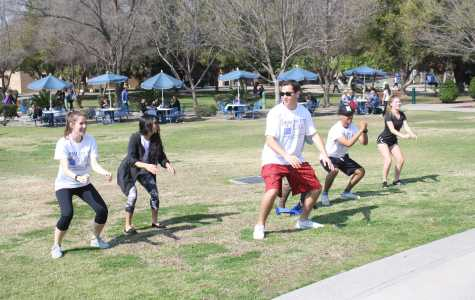 A group of students participating in Zumba at National Recreational Day on Monday, Feb. 22.  Photo by Karina Diaz/The Runner