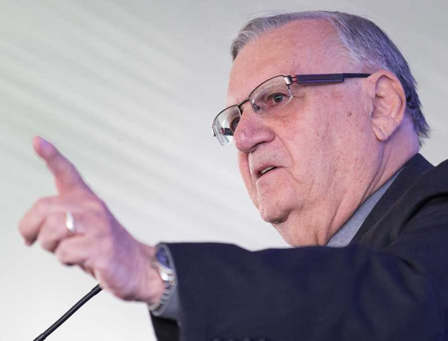 Sheriff Joe Arpaio speaks on Trump's qualifications to be president as well as the importance of strengthening the border at the Bakersfield Business Conference on Saturday, Oct. 8.