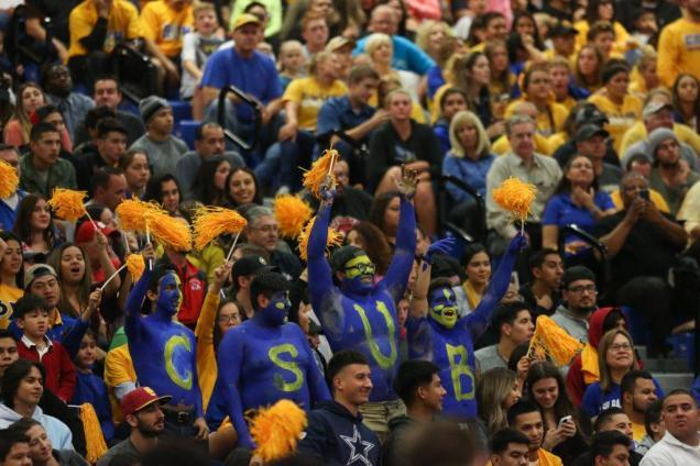 CSUB fans cheer on the Roadrunners against the Fresno State Bulldogs Tuesday, Nov. 22. Photo by AJ Alvarado/The Runner
