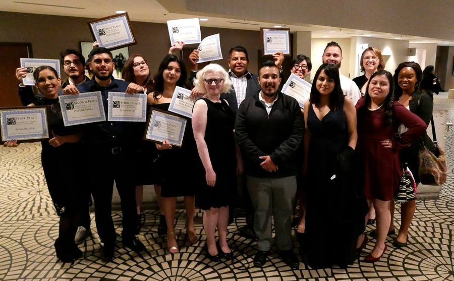The Runner staff received 14 awards at the California Collegiate Media Association Banquet on March 4, 2017. Photo courtesy of John Harte