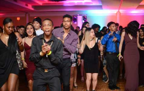 Photo by Ana Canales/The Runner Ready to let loose on the dance floor, CSUB students gather in the ballroom on Saturday Feb. 24, 2018 at the Marriott Hotel.