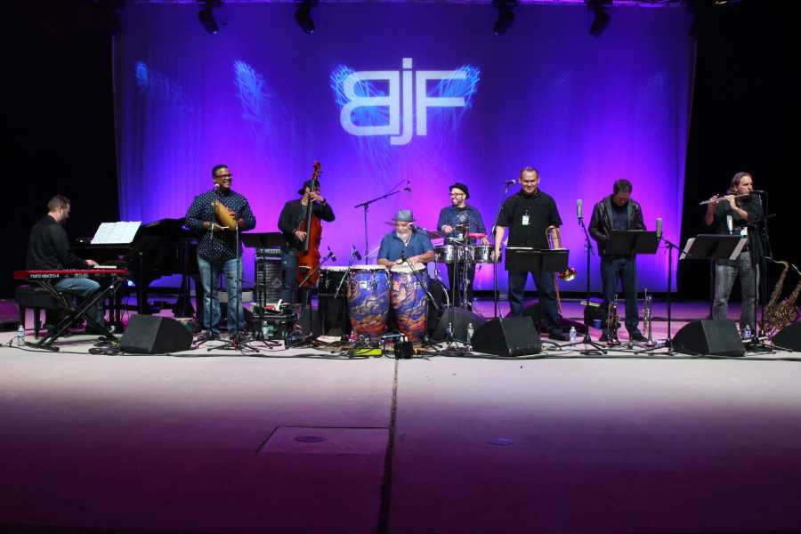 Photo by Richard Gonzales/ The Runner The Poncho Sanchez Band headlines day two of the 2018 Bakersfield Jazz Festival.