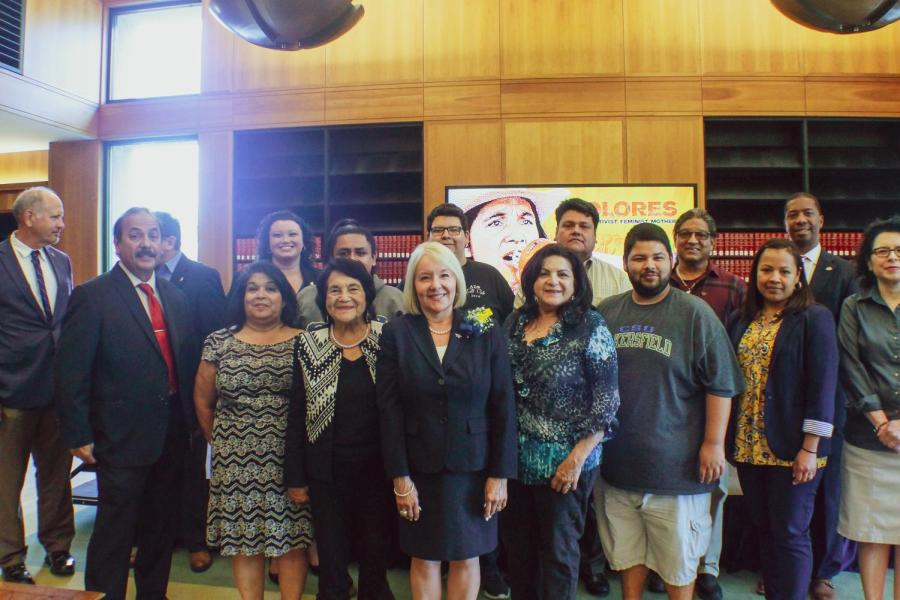 Dolores Huerta celebrated during investiture week