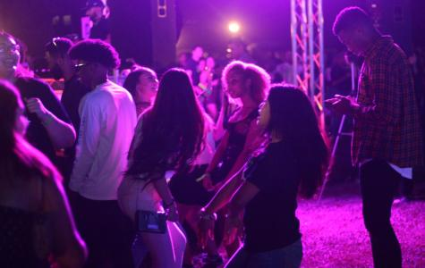 A group of CSUB students dance during the 5th annual Runners Night Carnival.