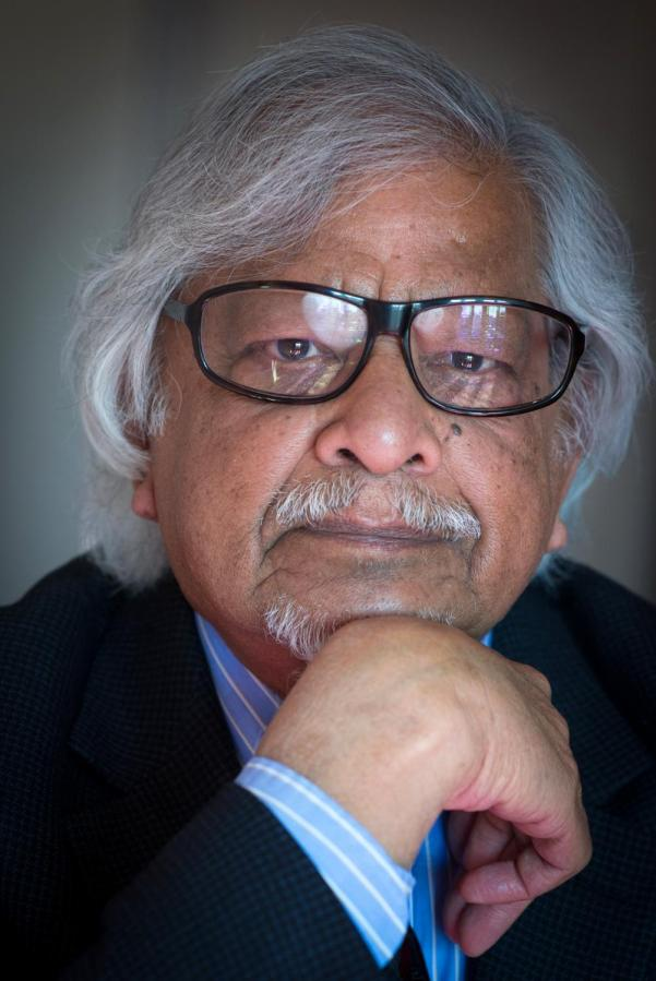 Headshot of Arun Gandhi published on the 15th annual Kegley Institute of Ethics Fall Lecture poster.