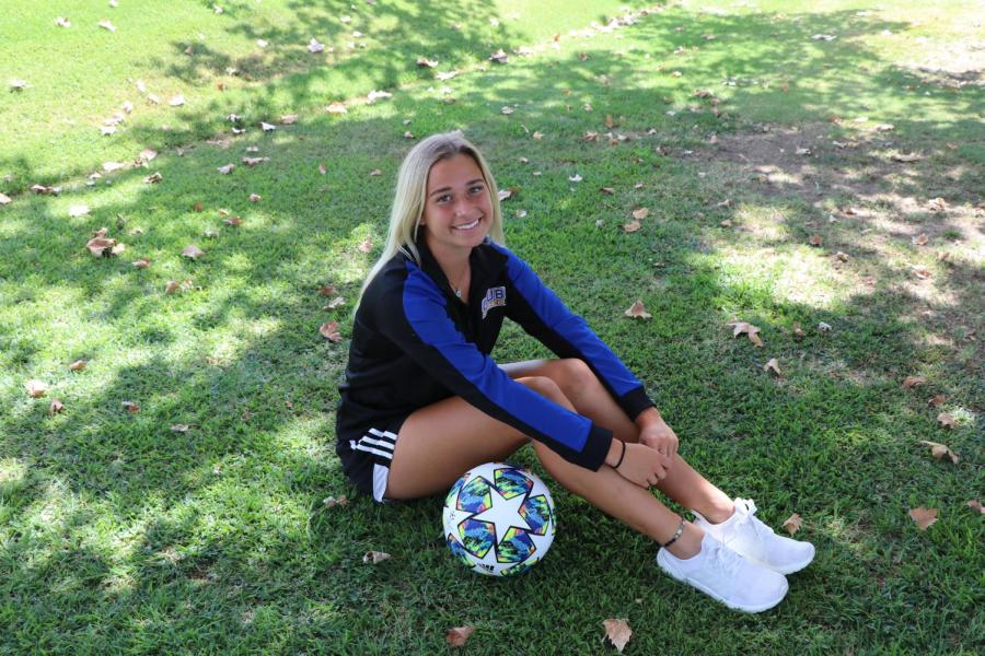 Jaden Skinner, freshman forward/midfielder for the women's soccer team, is The Runner's athlete of the week.