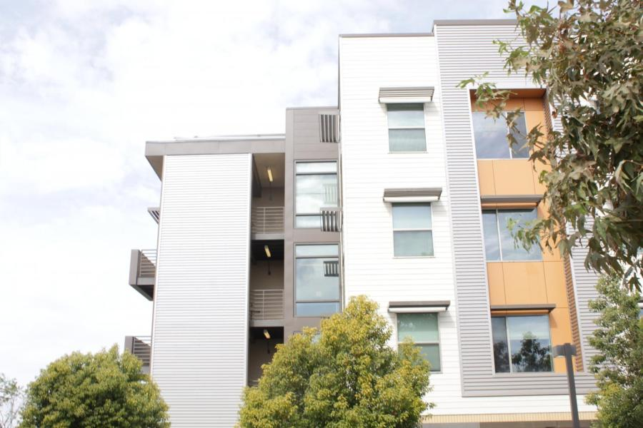 West+facing+corner+of+Juniper+Hall+located+at+the+Student+Housing+East+complex%2C+Thursday%2C+Nov.+14+2019.+Photo+by+Tony+Hernandez.+