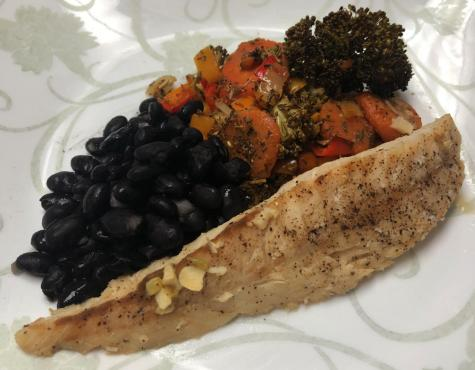 Runner recipe: Lemon pepper rockfish with roasted vegetables